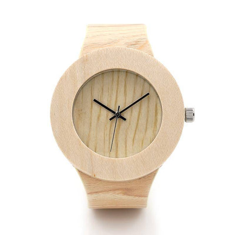 Image of BOBO BIRD WH12 Pine Wooden Watches for Women Men Wood Dial