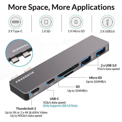 "Multiport Usb-c Hub For Macbook Pro MacBook Pro 13"" 15"" 