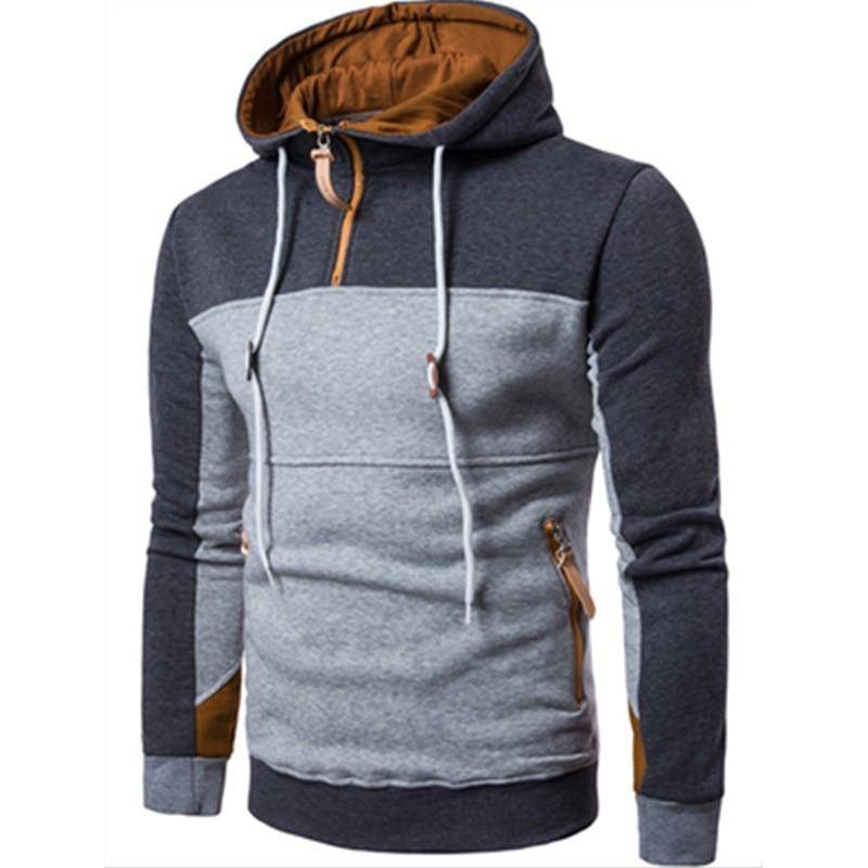 Winter Fashion Color Stitching Hoodies