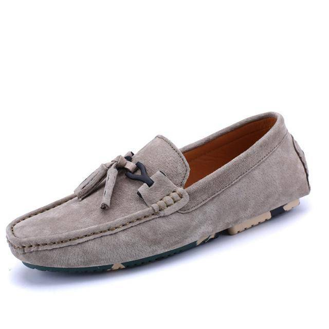 Faux Suede Men Loafers