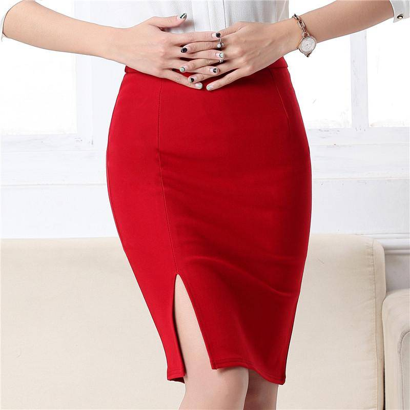 Women Office Formal Pencil Skirt