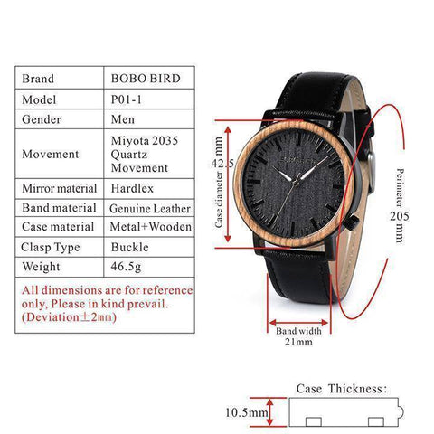 Image of BOBO BIRD WP01 Newest Wooden Metal Watch