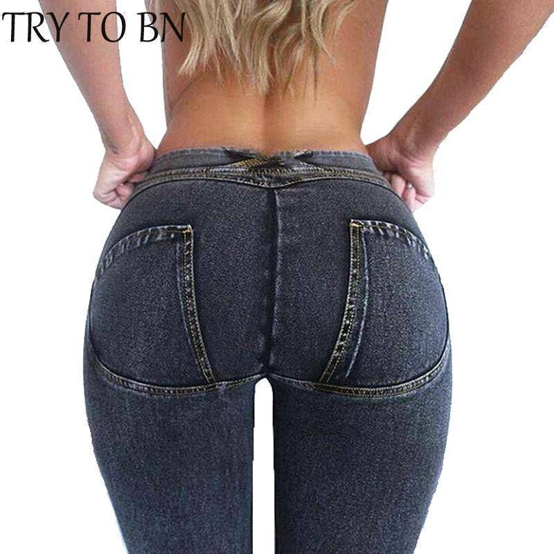 Crypto Fashion Elastic Denim Jeans