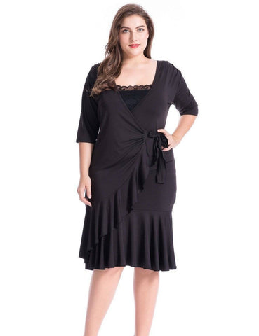 Image of Plus Size Whimsy Wrap Dress