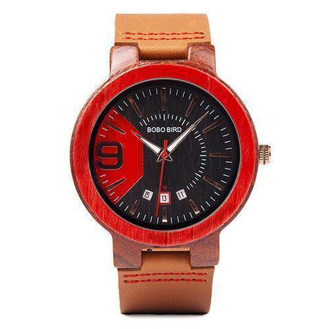 Image of Crypto Fashion Leather Band Wooden Wristwatches