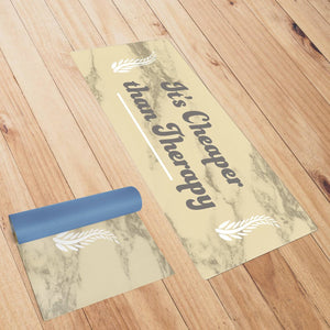 It's Cheaper Than Therapy Gold Yoga Mat
