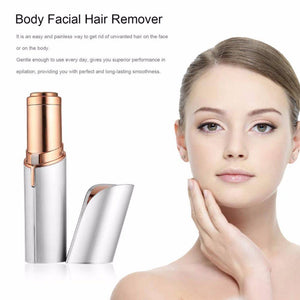 USB Rechargable Epilator For Facial Hair Removal | Flawless Lipstick Electric Hair Removal For women