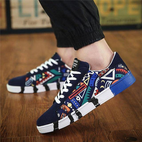 Image of Casual Canvas Shoes Fashion Print Summer Sneakers