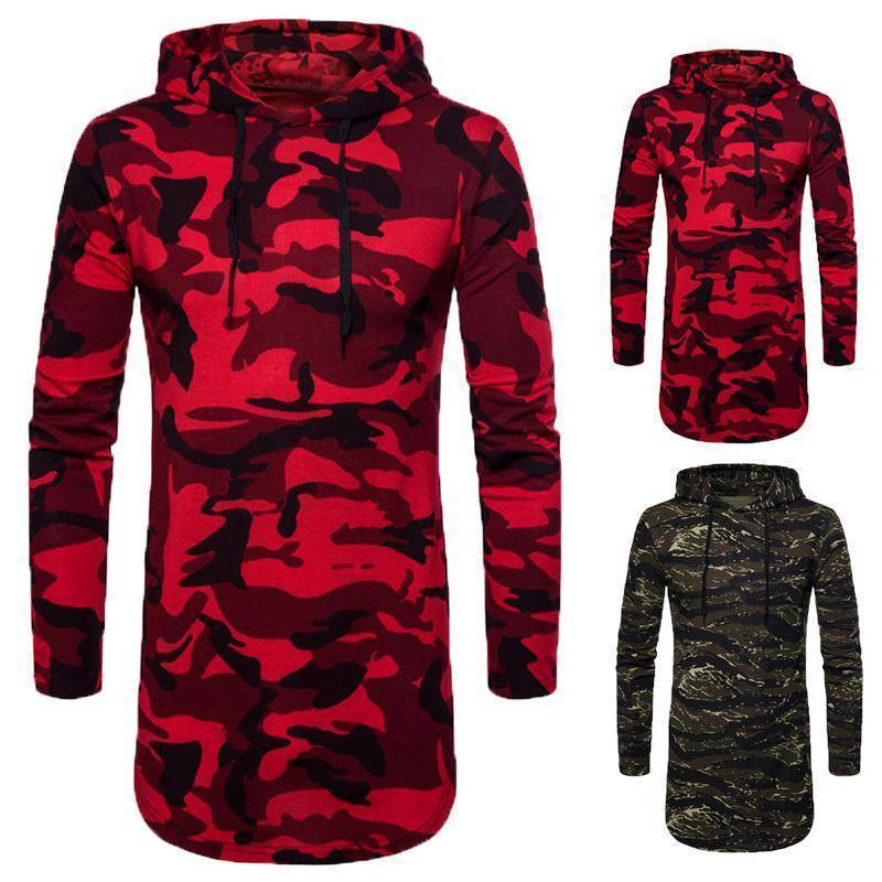 Streetwear Camo Military Men Hoodies