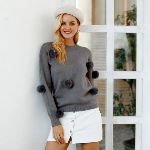 Airball Loose Casual Sweater