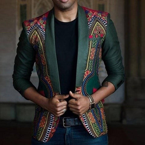 Image of New African Dashiki Printed Coat