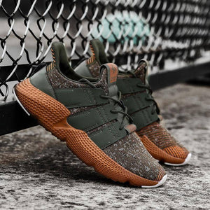 Fly Weaving Running Shoes For Men | Spring Autumn Sport Shoes | High Quality Breathable Sneakers For Male | Damping Thick Bottom