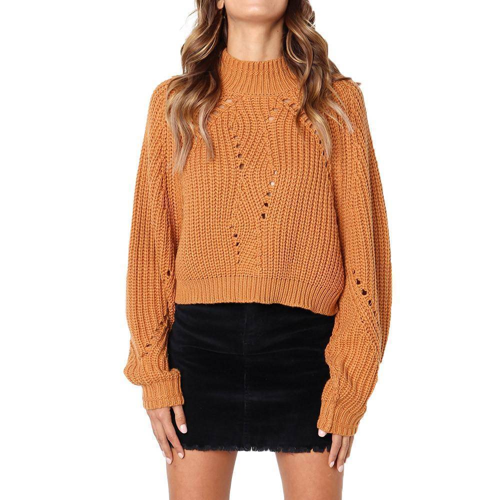 Long Sleeve Knitted Loose Sweater