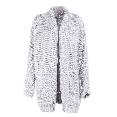 Image of Casual Knitting Long Cardigan Loose Winter Sweater