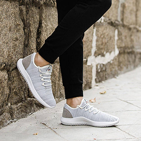 Image of Men Mesh Round Breathable  Flat Sneakers