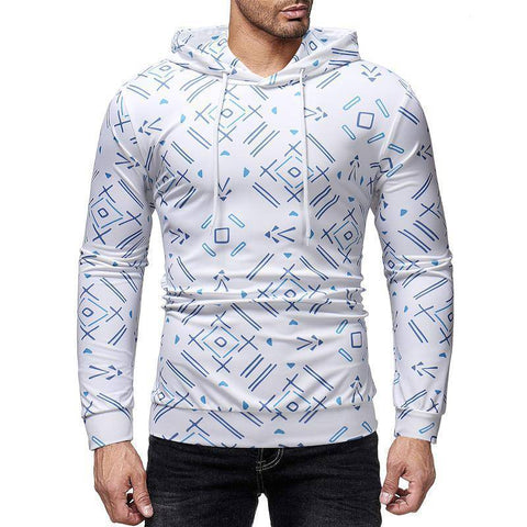 Image of Fashion Street Style Print Hoodie