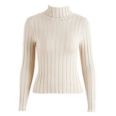Image of Turtleneck Winter Cotton Sweater