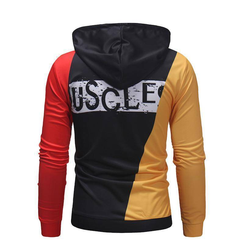 Fashion Street Style Stitching Design Print Hoodie