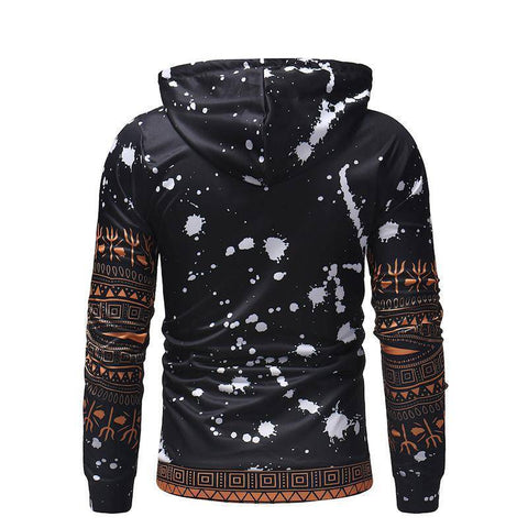 Image of Fashion Street Style Stitching Design Print Hoodie