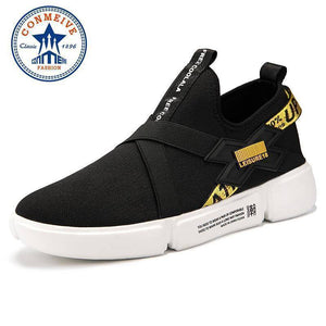 Men Light Elastic Band Outdoor Sneakers