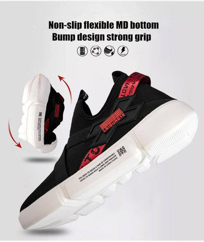 Image of Men Light Elastic Band Outdoor Sneakers