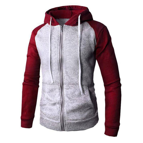 Color Patch  Hooded Tracksuit