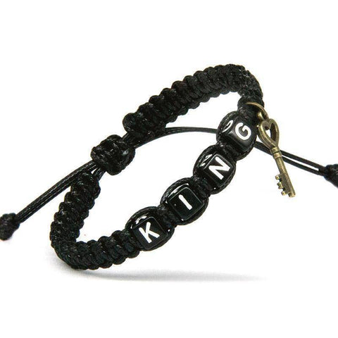 Image of Couple Lock Charm Rope Bracelet