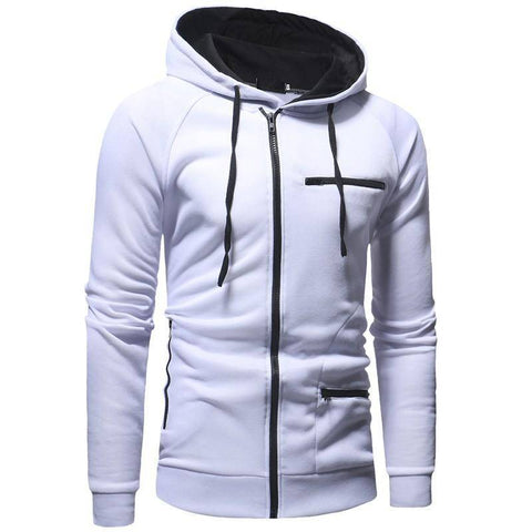 Image of Men Hoodies Zipper Jacket