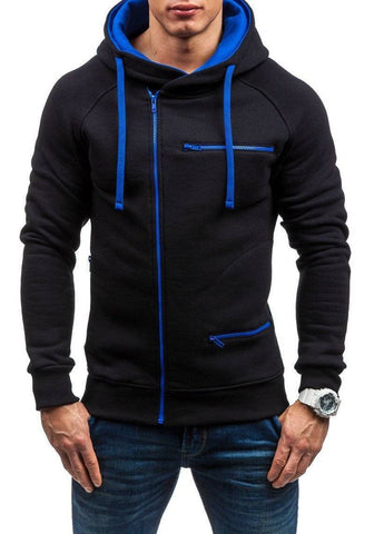 Men Long Sleeve Zipper Jacket