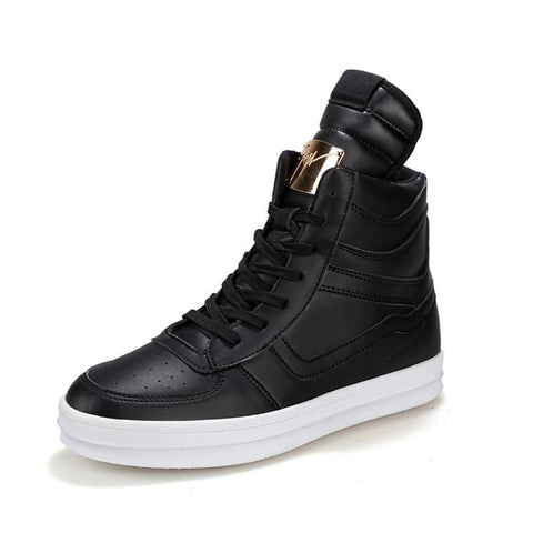 Image of High Top Leather Shoes | Sneakers