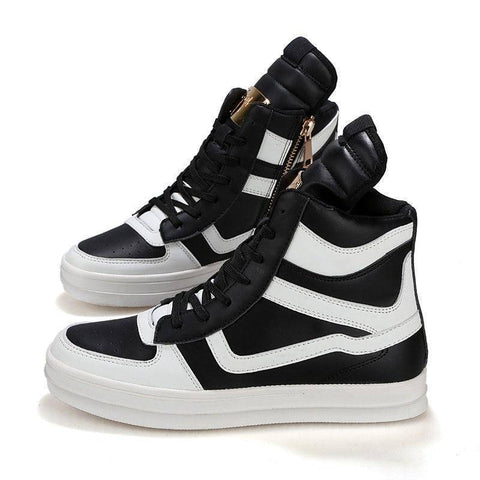 High Top Leather Shoes | Sneakers