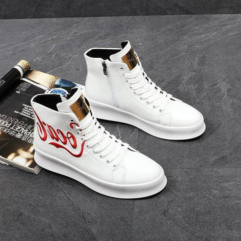 Men Fashion High Top Sneakers