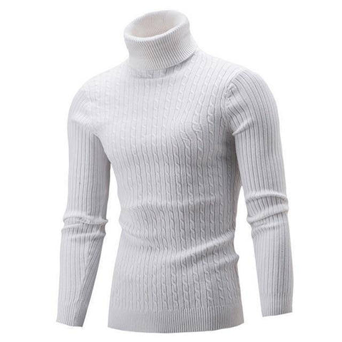 Image of Warm Knitted Turtleneck Sweater