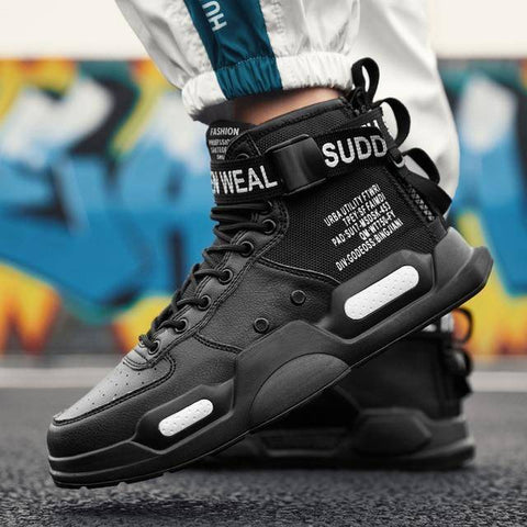 Image of Fashion High Top Trend Man Shoes | Waterproof Walking Shoes