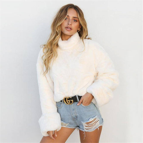 Image of Fashion Soft Plush Turtleneck Sweaters