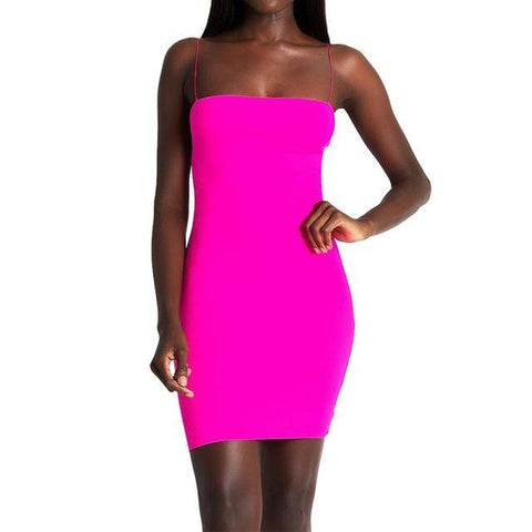Image of Sexy Solid Sleeveless Mini Dress