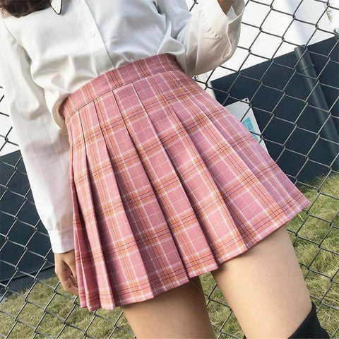 Style High Waist Chic Stitching Skirts
