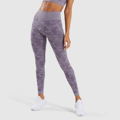 Women Camo Seamless Leggings | Crypto Fashion House