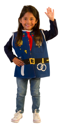 Toddler Police Dress-up Costume Age 2-4