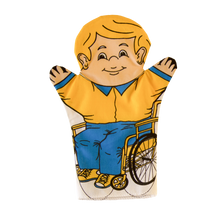 Boy in a Wheelchair Puppet Front