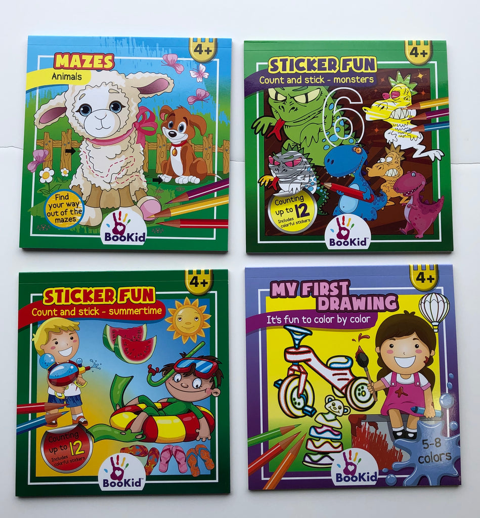 Child Activity Books 4 Pack Age 4+