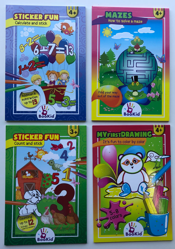 Activity Book 4 Pack for Ages 4+