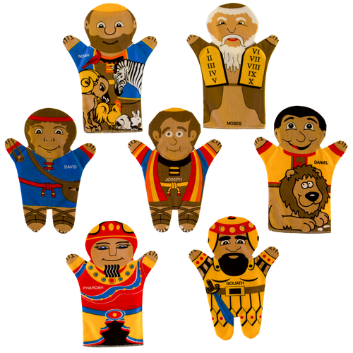 Biblical Group Set of 7 Puppets