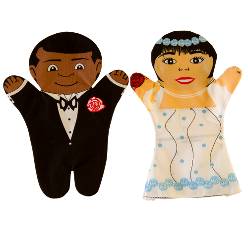 Bride and Groom Puppet Set
