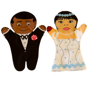 Bride and Groom Puppets Front
