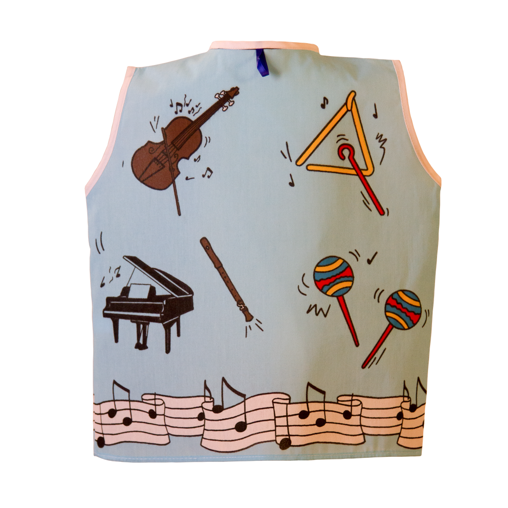 Toddler Musician Costume Back