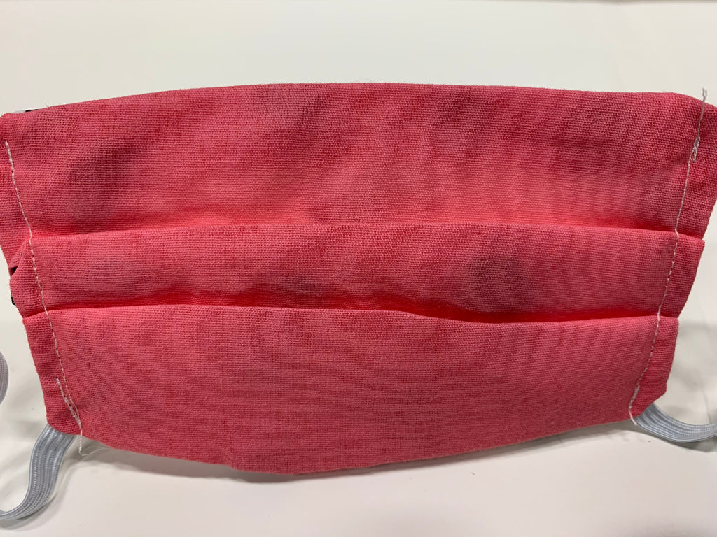Child Face Mask with Side Pleat and Liner Opening