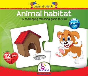 Make a Match - Animal Habitat Matching Game with 12 Pairs