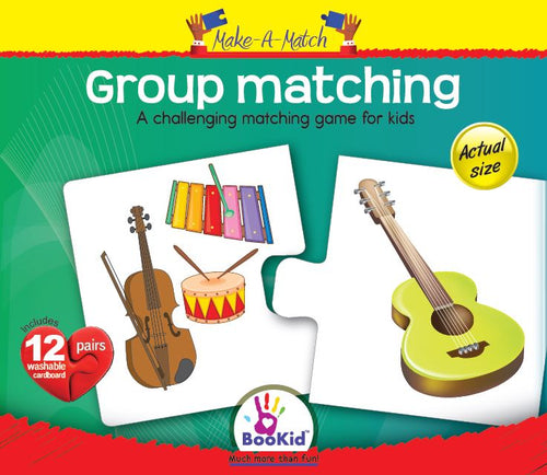 Make a Match - GROUP MATCHING Matching Game with 12 Pairs