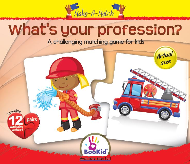 Make a Match - WHAT'S YOUR PROFESSION Matching Game with 12 Pairs